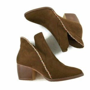 Mia Girl Ankle Boots Nancee Brown Vegan Suede